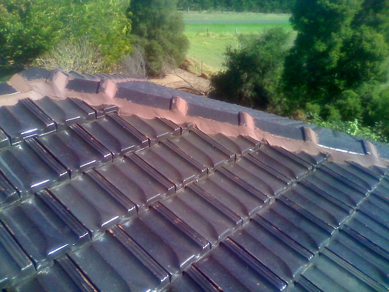 Image of the Roof Re-pointing process